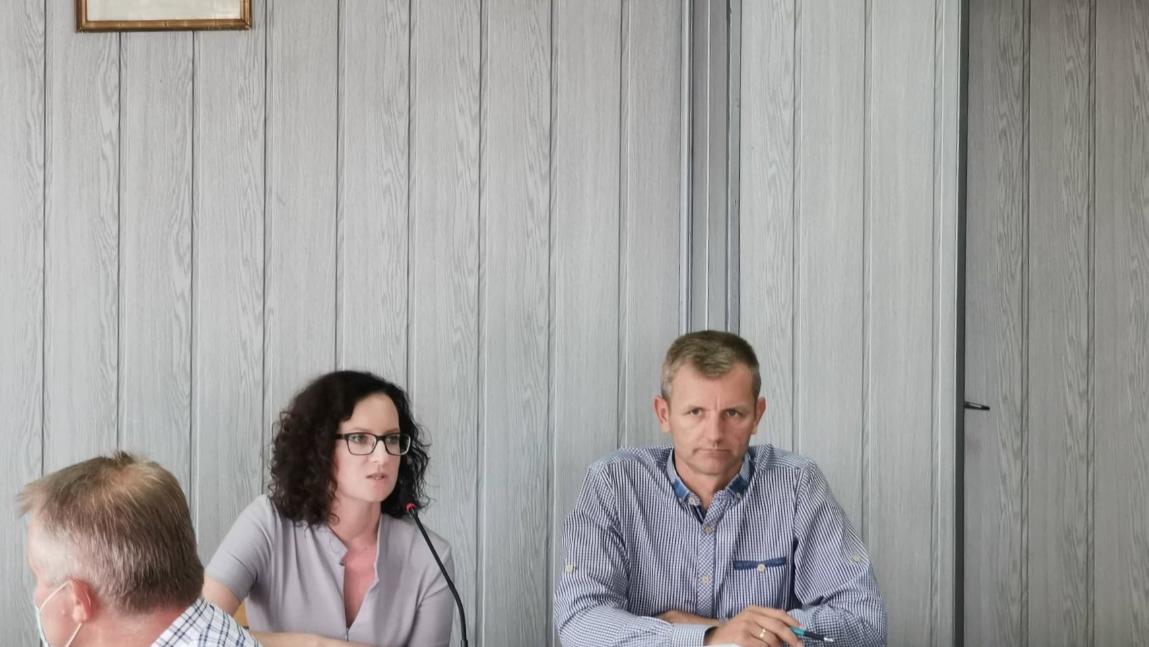 Urbanista Alicja Zawisza i Tomasz Tomkiewicz, pracownik UG Korczyna
