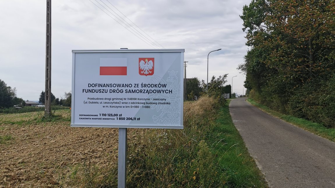 Ul. Leszczyńska w Korczynie