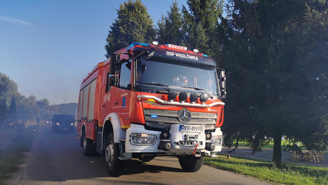 Nowy samochód strażacki w Węglówce